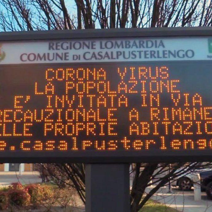 Coronavirus, parla il sindaco di Casalpusterlengo
