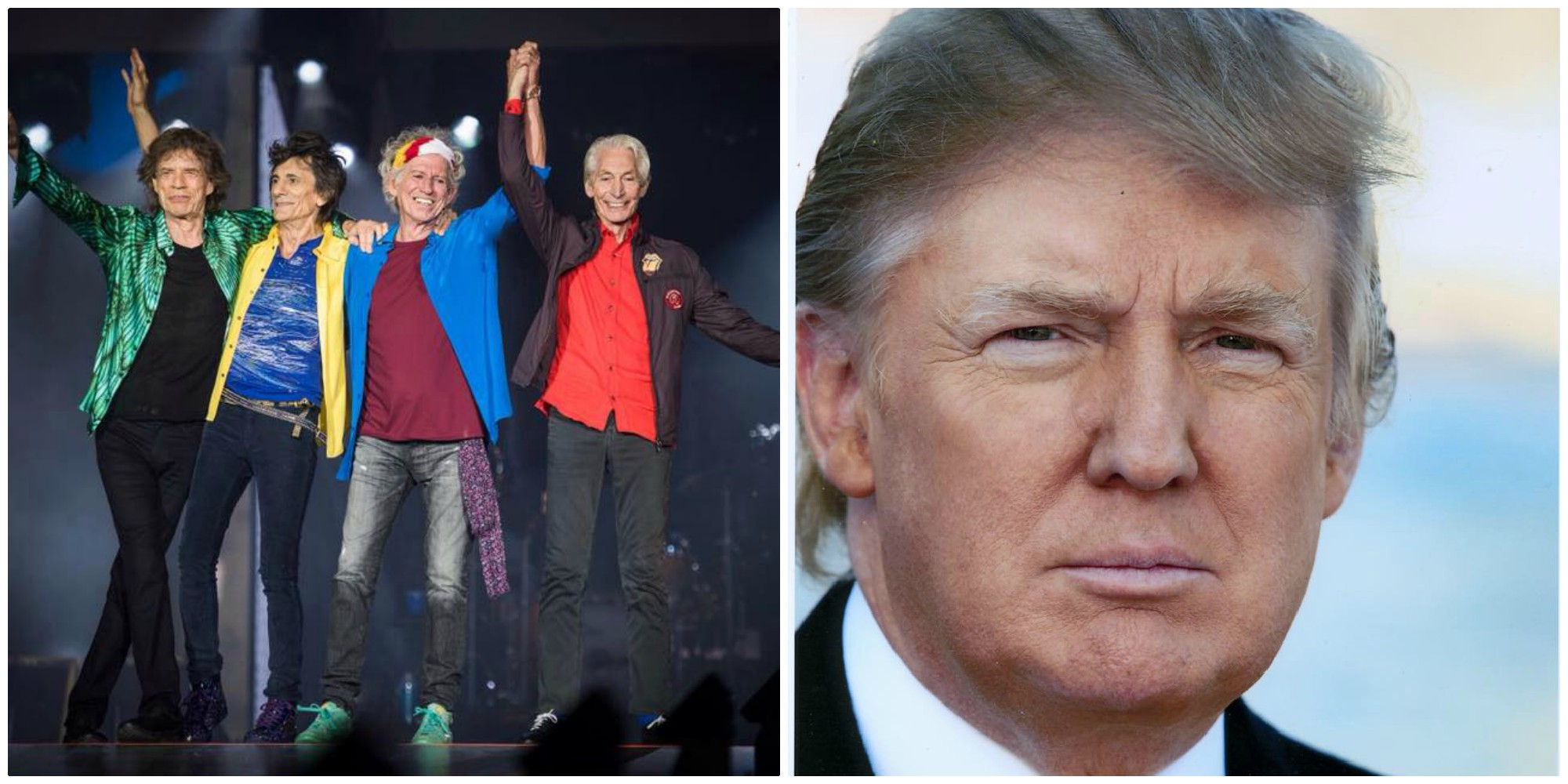 Rolling Stones vs Donald Trump